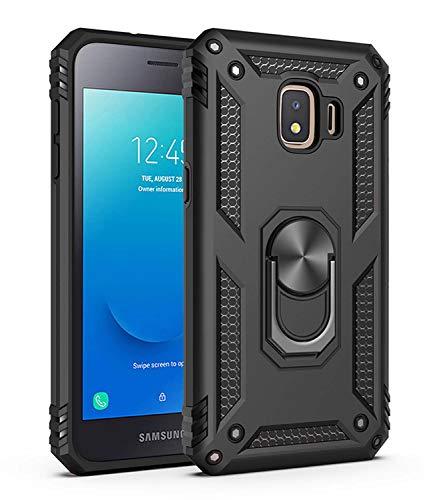 JMstore Coque Compatible avec Samsung Galaxy J2 Pro 2018 Aimant Anneau Support,Double Couche Renforcée Défense+Protection écran (Noir