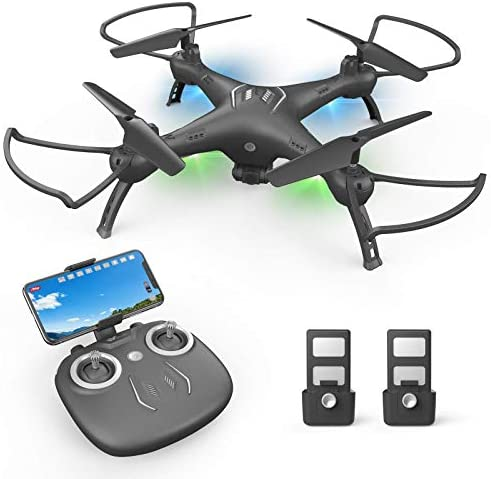 Drone with Camera 1080P HD, Toss to Launch RC Drone for Adults with Smart APP Trajectory Flight Altitude Hold One Key Take Off/Landing Headless 360°Flip Camera Drone 2 Batteries