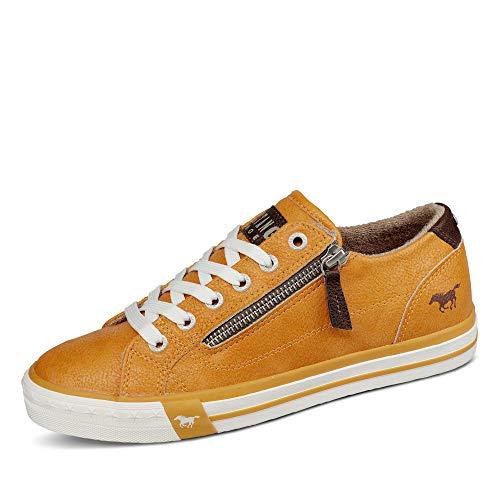 MUSTANG Damen 1146-302 Sneaker, ockergelb, 42 EU
