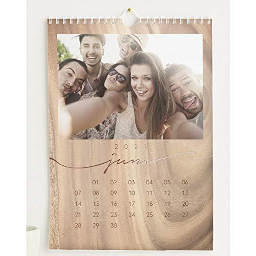 Fotokalender 2021 mit Relieflack, Natur Kalender, Wandkalender mit persönlichen Bildern, Kalender für digitale Fotos, Spiralbindung, DIN A4 Hochformat