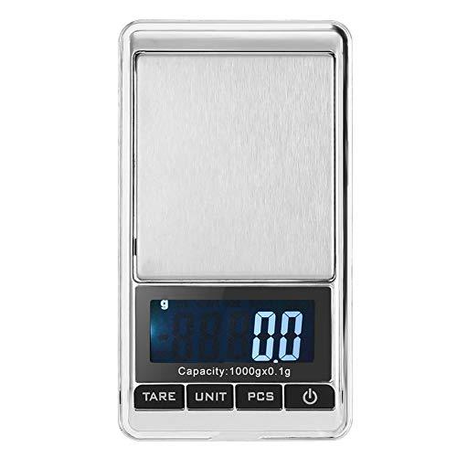 TMISHION Balance électronique numérique Balance de Cuisine numérique pour Les Aliments, Les Bijoux et Plus, écran LCD, 5 lentilles interchangeables/interchangeables Balance numérique (1000 * 0.1g)