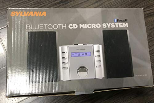 Sylvania SRCD804BT CD Microsystem with Radio and Bluetooth (Silver)