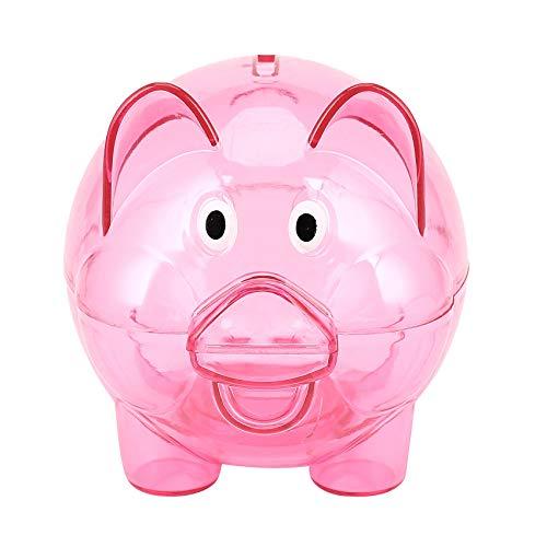 OVBBESS Lindo plástico cerdo claro alcancía moneda caja dinero dinero dinero caja ahorro niños juguete regalo
