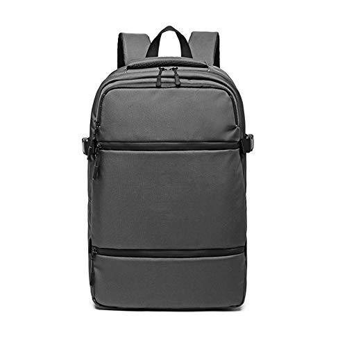 sandy Mochila Antirrobo Impermeable, Mochila Portatil 15.6 Pulgadas Hombre Mochila Backpack para el Laptop Ordenadortrabajo Diario Viaje,Gris
