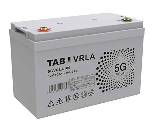 Batería AGM 12V 100Ah Sin Mantenimiento Ni Gases, Válvula VRLA - TAB 5GVRLA100