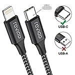 RAVIAD-Cavo-USB-C-Lightning-2Pack-2M-Certificato-MFi-Cavo-iPhone-USB-C-Power-Deliver-Carica-Rapida-Compatibile-con-iPhone-12-Mini1212-Pro12-Pro-MAXSE-20201111-ProXRXSX8-Nero