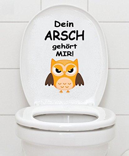 WC Aufkleber - DEIN ARSCH GEHÖRT MIR - Eule Toilettendeckel A036