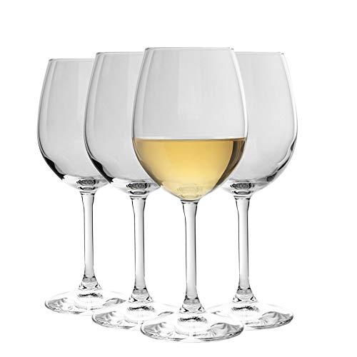 Bormioli Rocco Nadia Cabernet Copas de Vino Set | Sin Plomo de Vidrio | 370ml (12 1/2 oz) - Paquete de 4