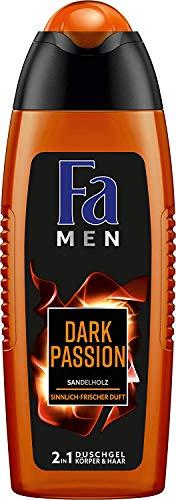 FA MEN 2in1 Duschgel Dark Passion mit Sandelholz und sinnlich-frischem Duft, 6 x 250ml