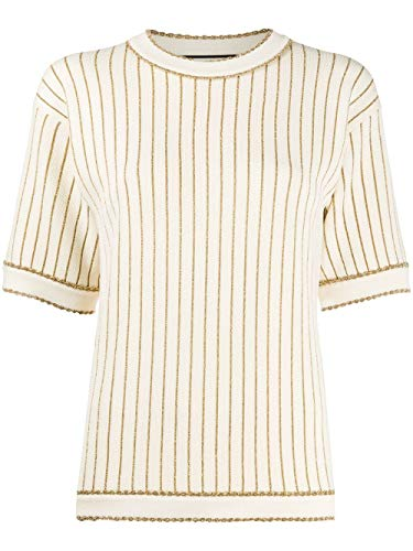Luxury Fashion | Gucci Dames 599180XKA3T9858 Wit Wol T-shirts | Lente-zomer 20