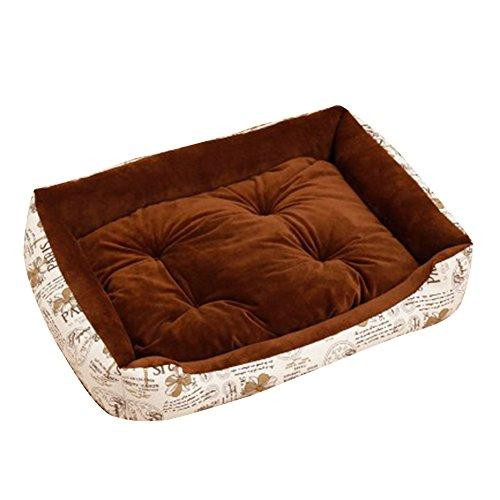 Extra Größe Luxus Hundebett Hundekissen Oxford Gewebe mit unten einen Anti-Rutschboden Kaffee 1