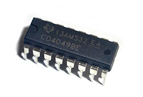 Major Brands CD4049 ICS and Semiconductors, Hex Inverting Buffer/Converter, DIP-16 (Pack of 10)
