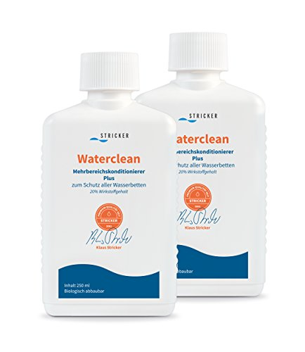 Strickerchemie Waterclean Mehrbereichs Wasserbett Konditionierer/Conditioner: 2 mal 250ml