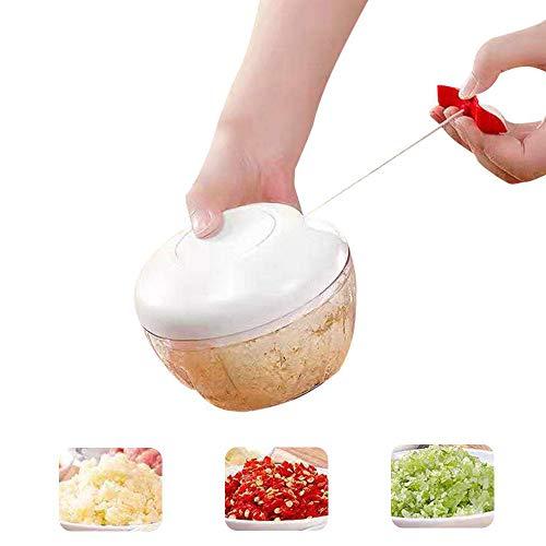 Gemüse Spiralizer, Zoodle Maschine, bewegliche Handbetriebene Nahrungsmittelzerhacker, Multi-Funktions-Edelstahl Gemüseschneider für Erdnussbutter Chili Sauce Ketchup