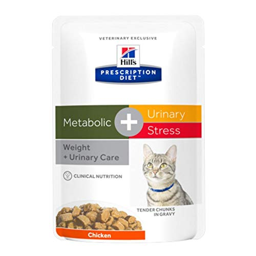 Hill´s Prescription Diet Feline Metabolic Advanced Weight Solution Huhn Frischebeutel , Option:12 x 85 gr Frischebeutel