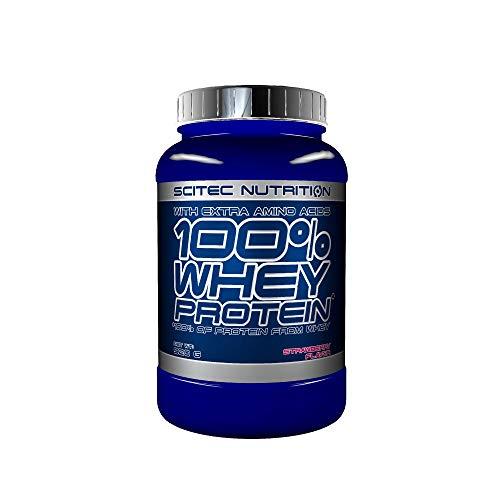 Scitec Nutrition 100% Whey Protein con aminoácidos adicionales, 920 g, Fresa ✅