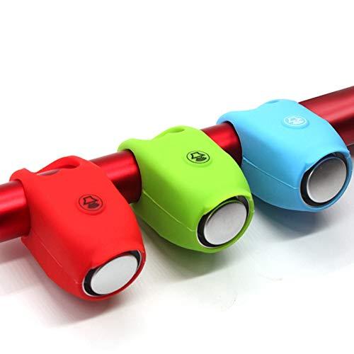 MXBIN Ciclismo Silicone Campanello di Allarme Horn 120dB Elettrico Impermeabile Manubrio Bici elettrica Campana Strumento di Riparazione delle Parti accessorie (Color : Green)