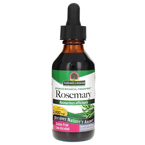 Nature's Answer Rosemary Leaf Supplement with Organic Alcohol, 2-Fluid Ounces   Promotes Mental Clarity   Improves Healthy Hair Production