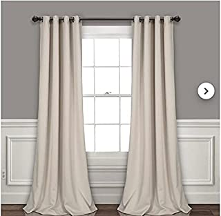 Off White Blackout Curtains - sun zero - American - Thermal Insulated room darkness (250, 270)