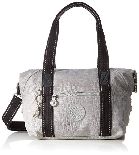 Kipling Damen Art Mini Henkeltasche, Grau (Chalk Grey), 28x23.5x18.5 cm