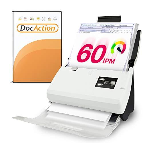 Plustek PS30D duplex Document Scanner: with 50 Sheet Auto...