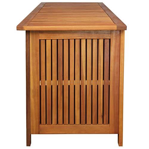 vidaXL Akazienholz Massiv Auflagenbox XL Kissenbox Gartenbox Gartentruhe Truhe - 4