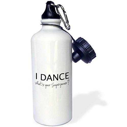 I Dance Whats Your Superpower Funny Dancing Love Geschenk für Tänzer Sport Wasser Flasche Edelstahl-Flasche für Frauen Herren Kinder 400ml