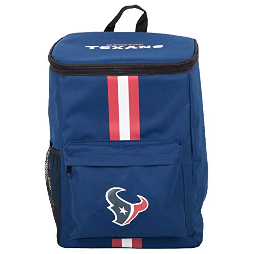 FOCO Cooler Backpack – Portable Soft Sided Ice Chest – Insulated Bag Holds 36 Cans - NFL Football Gear – Show Your Team Spirit with Officially Licensed Fan Gear (Houston Texans)