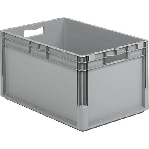 SSI Schäfer EURO-Leichtbehälter ELB 6320, ohne Deckel, 64 L, grau