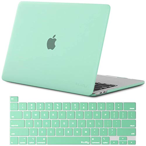 Kuzy - MacBook Pro 16 inch Case and Keyboard Cover for 2019 Release A2141 Plastic Hard Shell for New 16 inch MacBook Pro Case with Touch Bar Soft Touch - Mint