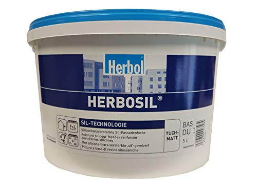 Herbol Herbosil Sil-Technologie Siliconharzverstärkte Fassadenfarbe Ral 7012 Basaltgrau 12,5 L