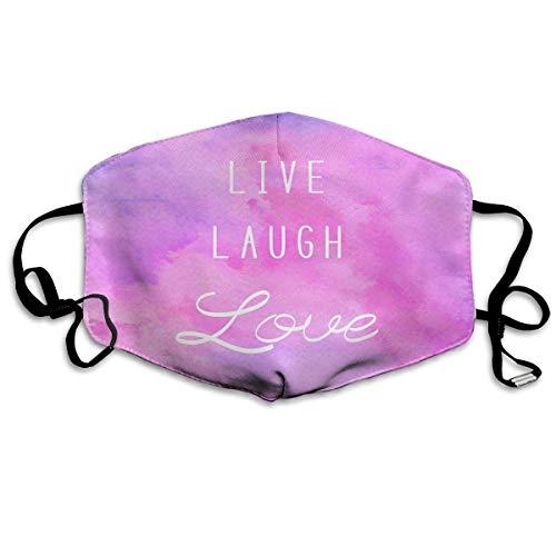 Mond Cover Live Lach Liefde Aquarellen Positieve Citaat Licht Roze Oor Lussen Gezichtsbescherming Mond Sjaal