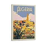 SHXI Vintage-Reise-Poster Algerien, Leinwand-Kunst-Poster