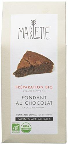 MARLETTE - Préparation Bio pour Fondant au chocolat - Préparation bio - Matières premières locales - 380g - Blanc