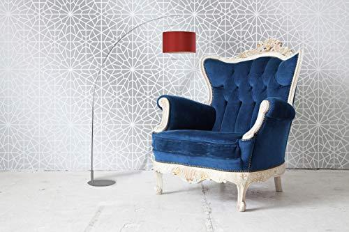Moroccan Wall Stencil - Modern Floor Stencil - Painting Geometric Design Stencil - Moroccan Wallpaper - Geometric Floor Pattern Stencils S-6144