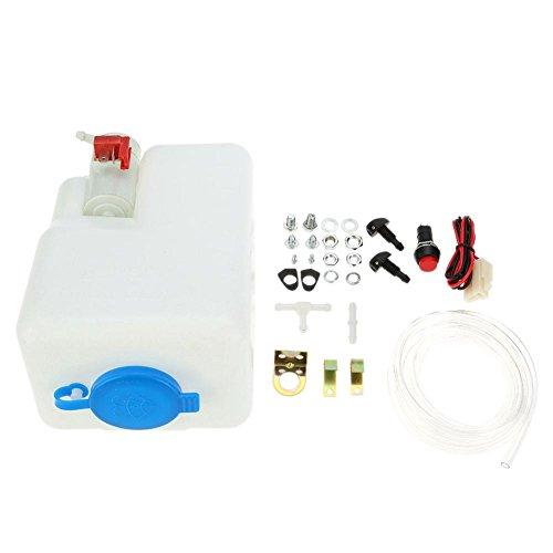 TOOGOO Kit de reservoir de pompe de lave-glace de pare-brise universel / reservoir de reservoir de liquide avec la pompe