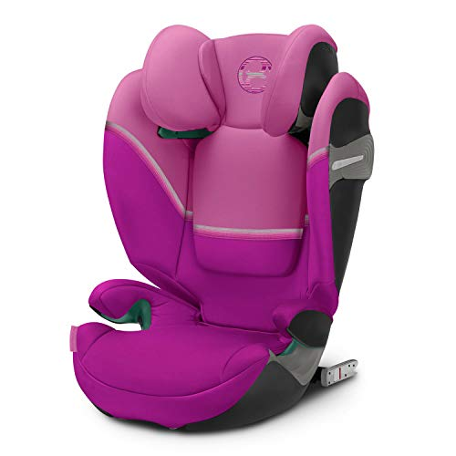 Cybex Gold Kinder-Autositz Solution S i-Fix, für Autos mit und ohne ISOFIX, Gruppe 2/3 (15-36 kg), ab ca. 3 bis ca. 12 Jahre, Magnolia Pink