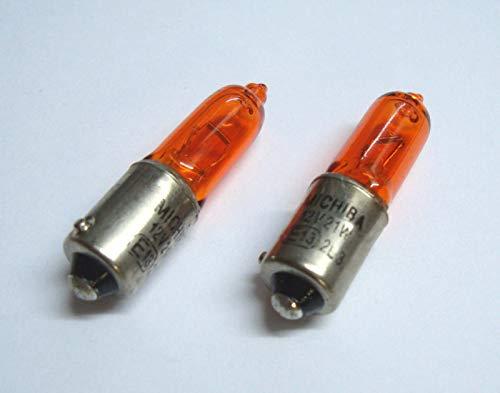 2x Blinkerbirne BAY9S H21W 12V 21W gelb orange Halogen Lampe Glühbirne Glühlampe Ersatzbirne