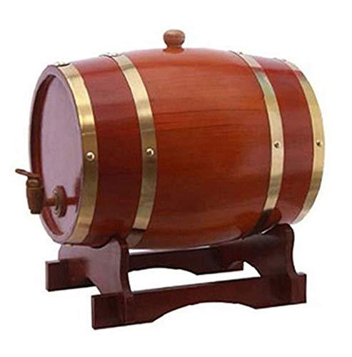 Barril de Vino de Roble 1.5L / 3L / 5L / 10L, Dispensador de Vino de Roble Vintage, Adecuado para Vino Cerveza Espíritu Whisky Brandy Almacenamiento (Size : 10L)