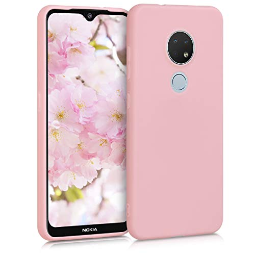 kwmobile Hülle kompatibel mit Nokia 6.2 - Hülle Silikon - Soft Handyhülle - Handy Hülle in Rosegold matt