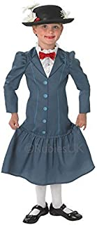 Official Disney Girls Mary Poppins Rich Victorian Book Day Week Fancy Dress Costume Outfit Ages 3-10 Years (5-6 Years)