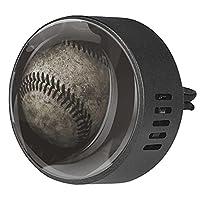 エッセンシャル オイル ベント クリップ用カー ディフューザー、アメリカの野球 ,2 パック 40mm アロマセラピー芳香剤