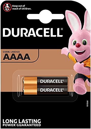 Duracell 2Stück Batterien Ultra AAAA–1.5V–Batterien Alkaline AAAA