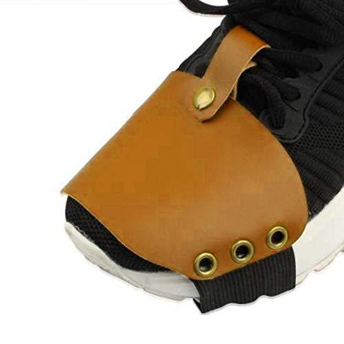 Shipenophy Zapatos Protectores de Zapatos a Prueba de Golpes para Mejorar la Seguridad del Motocross para Mejorar la Apariencia para Viajes por Carretera(Yellow)