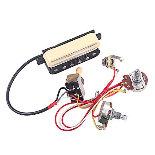 chiwanji Pastilla Humbucker DIY con Interruptor Selector de Pastilla para Guitarra Eléctrica/Caja de Puros