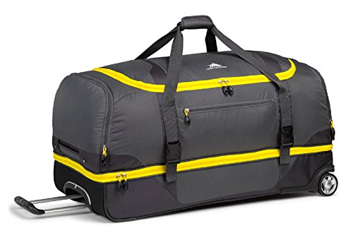 High Sierra Sportour Drop-Bottom Wheeled Duffel Bag, Mercury Sunflower, 28-Inch