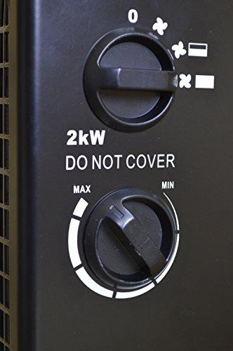 Garden mile® 2Kw PTC Turbo Industrial Space Fan Heater Workshop Garage Office Fan Heaters Adjustable Power and…