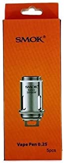 Bobinas Smok Vape Pen / 5 en paquete / 0.25 ohm, Este producto no contiene nicotina ni tabaco