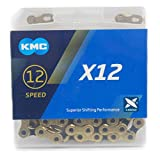 KMC X12 チェーン 12速/12S/12スピード/12speed 用 126Links (ゴールド/ブラック) [並行輸入品]