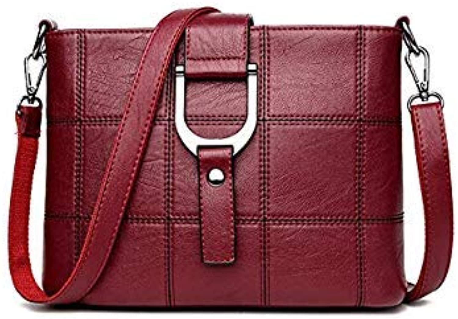 Bloomerang Luxury Women Messenger Bags Designer Woman Bag Brand Leather Shoulder Bags Tote Bag sac a Main Femme Nouvelle Collection color Red